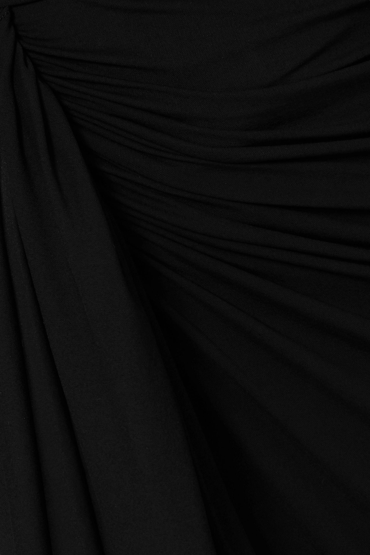 Alexandre Vauthier Robe du soir en crêpe stretch à fronces nouée sur le devant