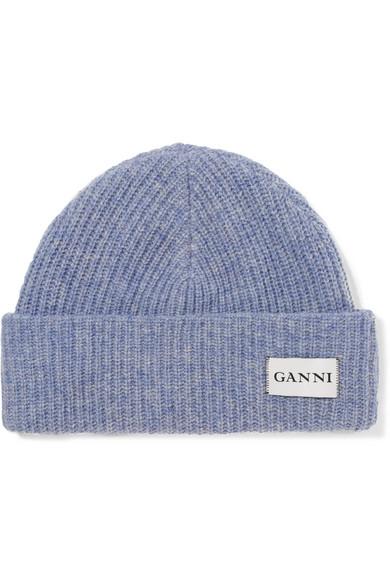 GANNI. Ribbed wool beanie 38c6e920748