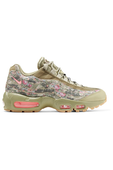 AIR MAX 95 PRINTED LEATHER AND MESH SNEAKERS