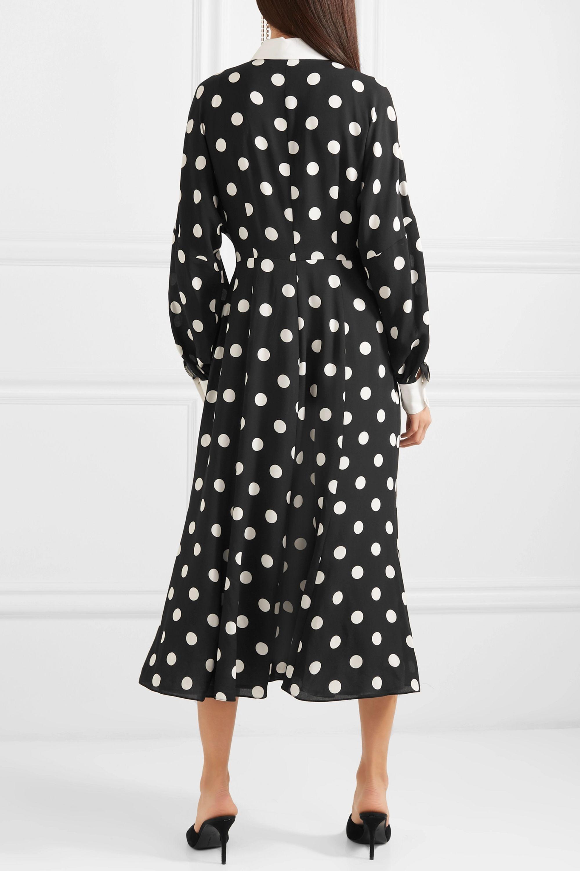 Andrew Gn Polka-dot silk-georgette dress