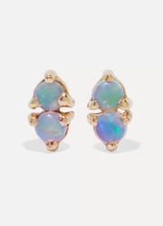 Wwake Two Step gold opal earrings