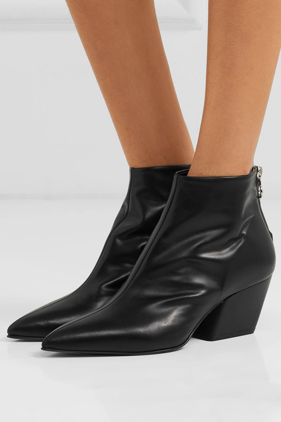 aeydē Freya leather ankle boots