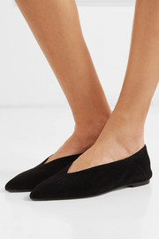 aeydē Moa suede point-toe flats