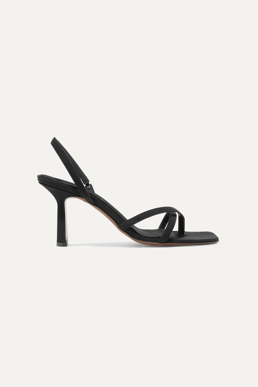 Neous Spatulata faille slingback sandals