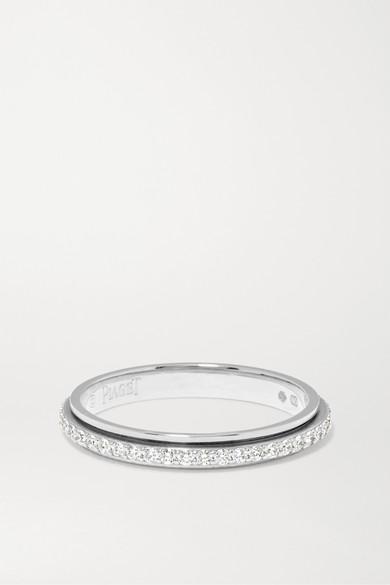 PIAGET Possession 18-Karat Platinum Diamond Ring in Silver