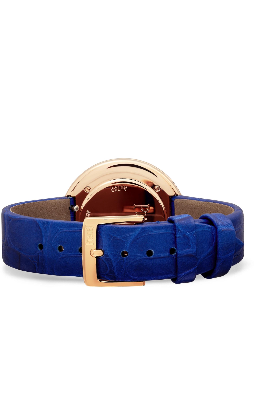 Piaget Possession 34mm 18-karat rose gold, alligator and diamond watch