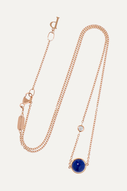 Piaget Possession Kette aus 18 Karat Roségold mit Lapislazuli und einem Diamanten