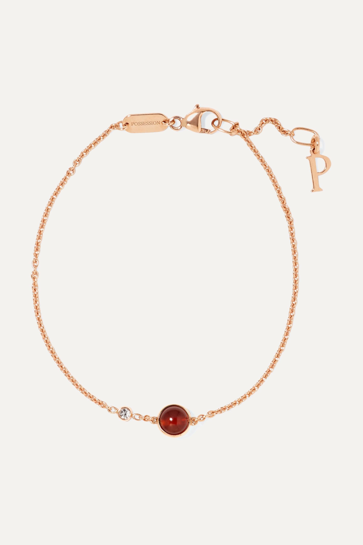 Piaget Possession Armband aus 18 Karat Roségold mit Karneol und einem Diamanten