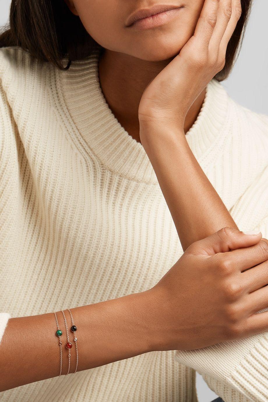 Piaget Possession 18-karat rose gold, carnelian and diamond bracelet