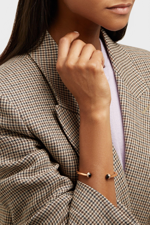 Piaget Possession Armspange aus 18 Karat Roségold mit Onyxen und Diamanten