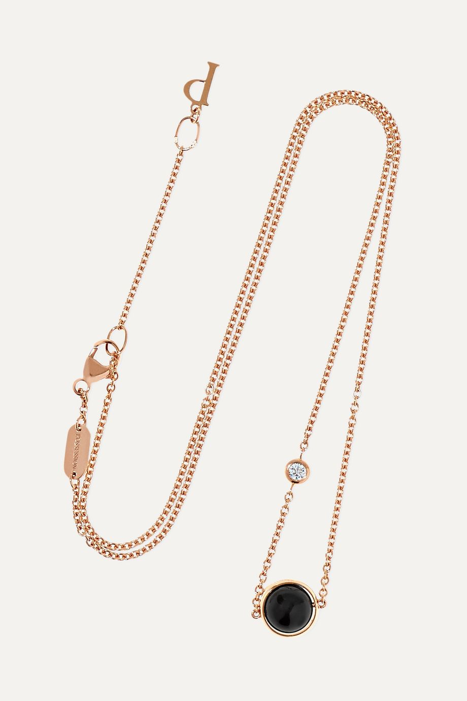 Piaget Possession 18-karat rose gold, onyx and diamond necklace
