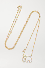 Yvonne Léon 18-karat gold diamond necklace