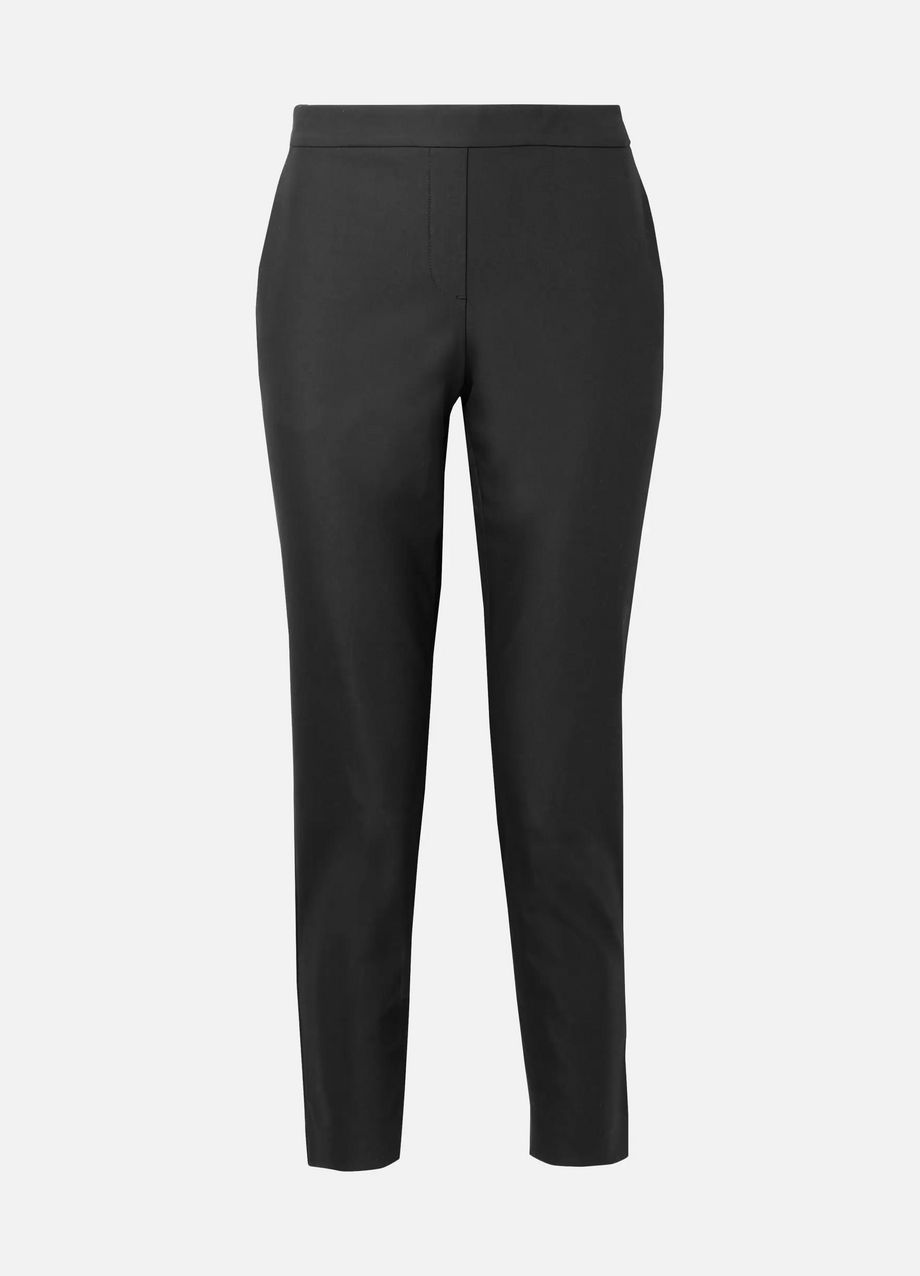 Theory Thaniel cropped stretch cotton-blend twill slim-leg pants