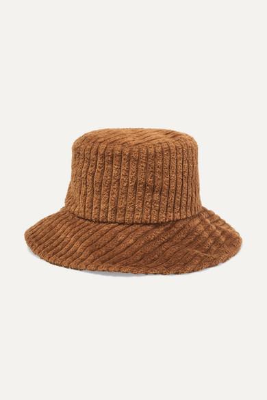 ALBUS LUMEN Isa Corduroy Bucket Hat in Brown