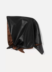 Nina leather headscarf