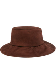 Isa suede bucket hat