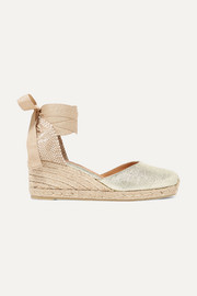 Carina 60 metallic canvas wedge espadrilles