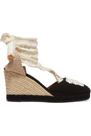 Coralia 80 canvas wedge espadrilles