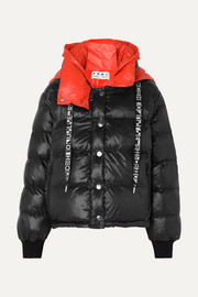 PSWL Reversible hooded quilted-shell jacket