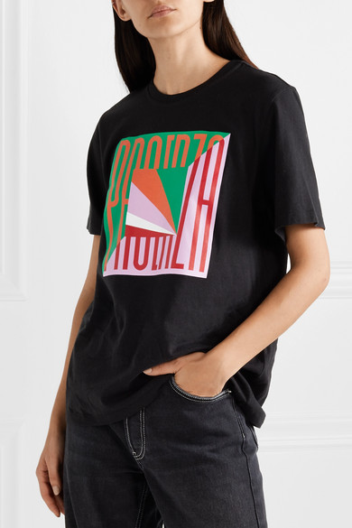 Proenza Schouler Shirts Printed cotton-jersey T-shirt