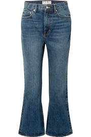 PSWL cropped high-rise flared jeans