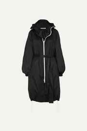 Givenchy Hooded printed shell coat