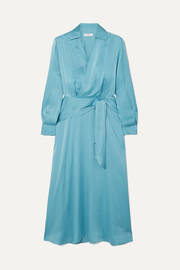 Vivienne silk-blend wrap dress