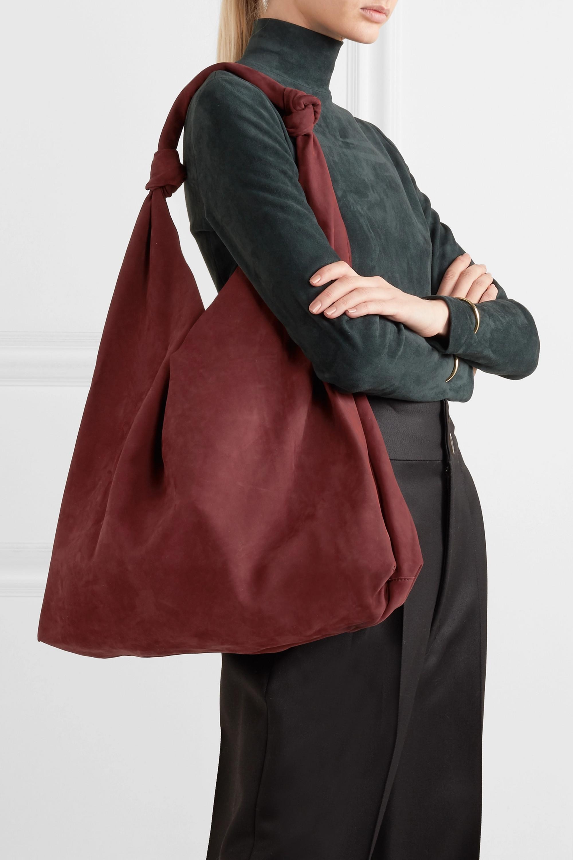The Row Bindle Double Knots nubuck shoulder bag
