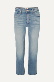 The Tomcat cropped distressed high-rise straight-leg jeans