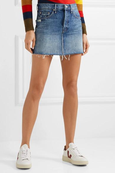 cac91fe912b2 Mother | The Vagabond distressed denim mini skirt | NET-A-PORTER.COM