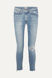 The Stunner distressed high-rise stretch skinny jeans
