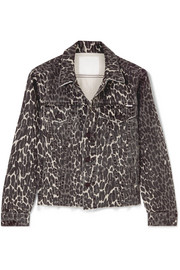 The Cut Drifter distressed leopard-print denim jacket