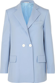 Oscar de la Renta Double-breasted wool-blend twill blazer