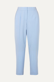 Oscar de la Renta Cropped wool-blend twill slim-leg pants