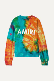 Printed tie-dyed cotton-jersey sweatshirt