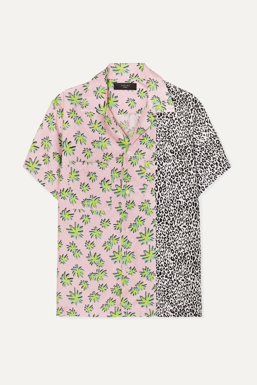 AMIRI Printed silk-twill shirt
