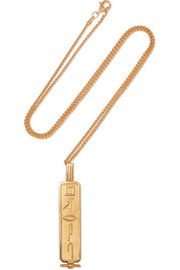 Le Memphis gold-plated necklace