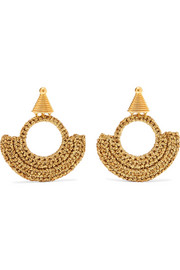 Memphis Milano gold-plated and Lurex earrings