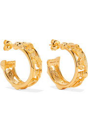 Sottsass Sphinx gold-plated hoop earrings