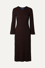 Wells ribbed mélange Tencel-blend midi dress