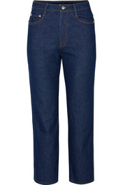 SIMON MILLER W013 cropped high-rise straight-leg jeans