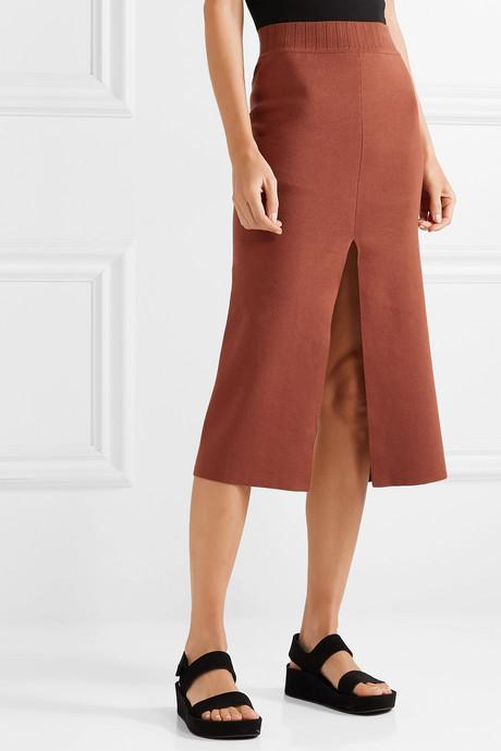 Luz cotton-blend midi skirt