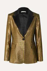 Robert satin-trimmed Lurex blazer