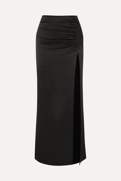 30603b6065fb Diana ruched satin maxi skirt. $549.59. Seasonal pick. Play. Zoom In