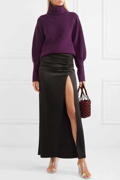 exquisite style promo code many styles Diana ruched satin maxi skirt