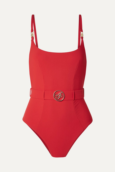 6a753a20278ef Agent Provocateur - Laurella Belted Swimsuit - Red | £195.00 | Gay Times