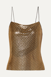 Alice + Olivia Harmon printed chainmail camisole