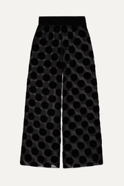 Brick Lane polka-dot flocked tulle pajama pants