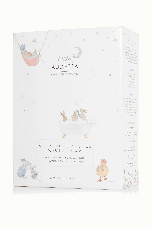 Aurelia Probiotic Skincare + NET SUSTAIN Little Aurelia Sleep Time Top To Toe Wash & Cream, 2 x 240ml