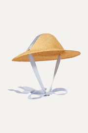 Adriatic cotton-trimmed straw hat